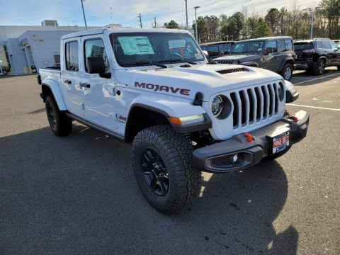 Bright White Jeep Gladiator Mojave 4x4.  Click to enlarge.