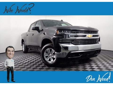 Black Chevrolet Silverado 1500 LT Crew Cab 4x4.  Click to enlarge.