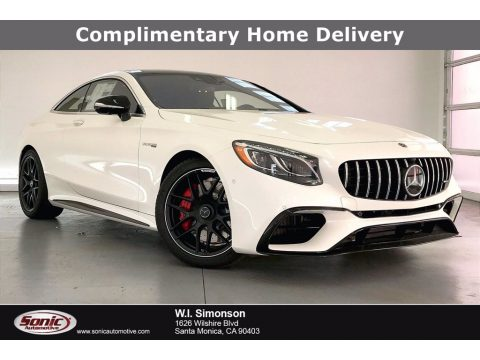 designo Diamond White Metallic Mercedes-Benz S AMG 63 4Matic Coupe.  Click to enlarge.