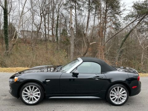 Forte Black Metallic Fiat 124 Spider Lusso Roadster.  Click to enlarge.