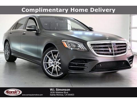 designo Graphite Grey Magno (Matte) Mercedes-Benz S 560 Sedan.  Click to enlarge.