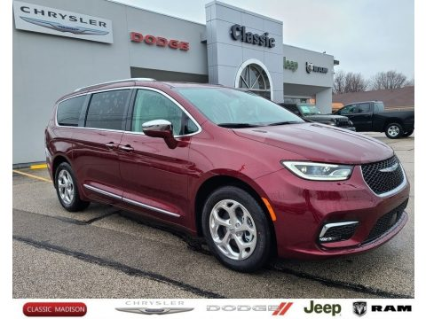 Velvet Red Pearl Chrysler Pacifica Hybrid Limited.  Click to enlarge.