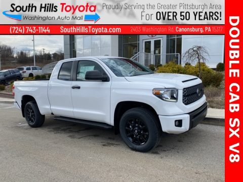 Super White Toyota Tundra SR Double Cab 4x4.  Click to enlarge.