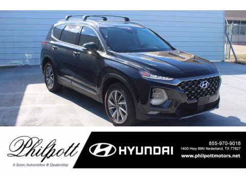 Twilight Black Hyundai Santa Fe Limited.  Click to enlarge.