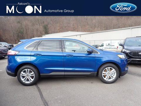Atlas Blue Metallic Ford Edge SEL AWD.  Click to enlarge.