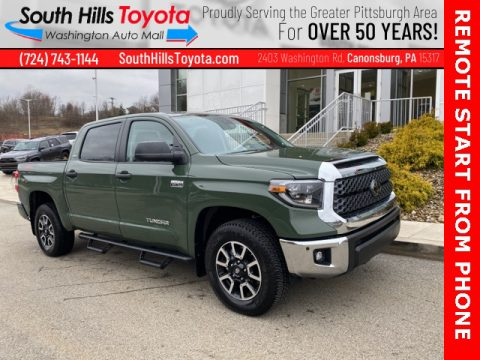 Army Green Toyota Tundra SR5 CrewMax 4x4.  Click to enlarge.
