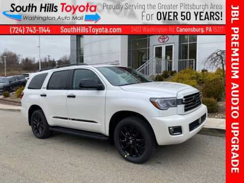 Blizzard White Pearl Toyota Sequoia Nightshade 4x4.  Click to enlarge.