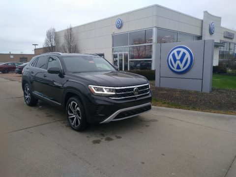 Deep Black Pearl Volkswagen Atlas Cross Sport SEL Premium 4Motion.  Click to enlarge.