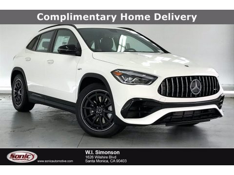 Polar White Mercedes-Benz GLA AMG 45 4Matic.  Click to enlarge.