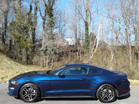 Kona Blue Ford Mustang EcoBoost Fastback.  Click to enlarge.