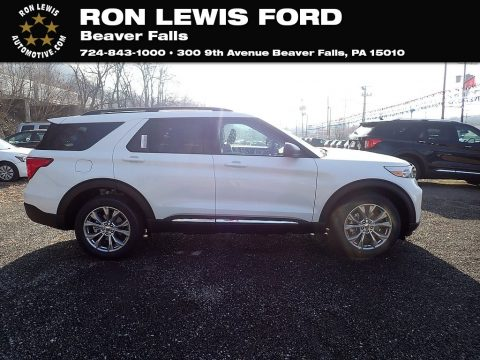 Star White Metallic Tri-Coat Ford Explorer XLT 4WD.  Click to enlarge.