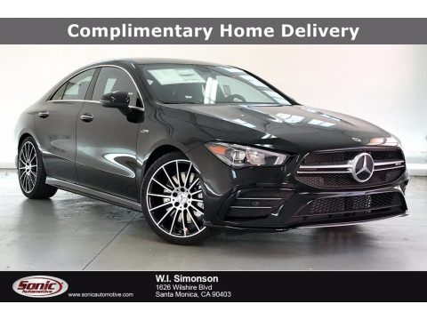 Night Black Mercedes-Benz CLA AMG 35 Coupe.  Click to enlarge.