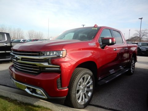 Cherry Red Tintcoat Chevrolet Silverado 1500 High Country Crew Cab 4x4.  Click to enlarge.