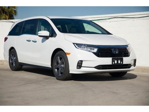 Platinum White Pearl Honda Odyssey EX.  Click to enlarge.