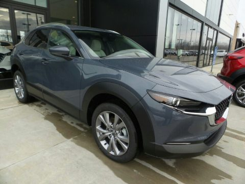Polymetal Gray Metallic Mazda CX-30 Premium AWD.  Click to enlarge.