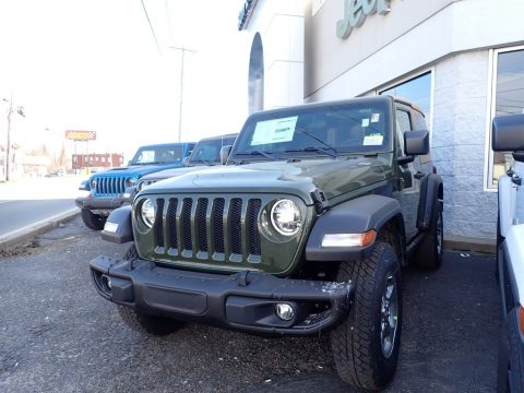 Sarge Green Jeep Wrangler Freedom Edition 4x4.  Click to enlarge.