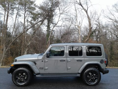 Sting-Gray Jeep Wrangler Unlimited Sahara Altitude 4x4.  Click to enlarge.