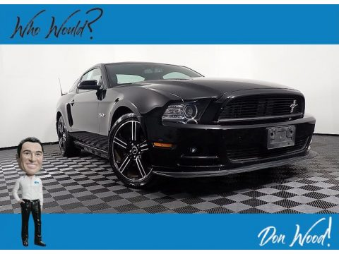Black Ford Mustang GT Premium Coupe.  Click to enlarge.