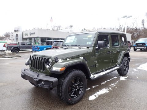 Sarge Green Jeep Wrangler Unlimited Sahara 4x4.  Click to enlarge.