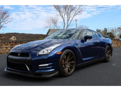 Deep Blue Pearl Nissan GT-R Premium.  Click to enlarge.