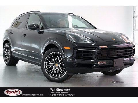 Jet Black Metallic Porsche Cayenne .  Click to enlarge.