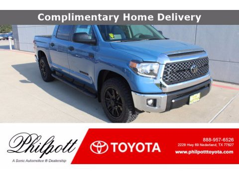 Cavalry Blue Toyota Tundra SR5 CrewMax.  Click to enlarge.