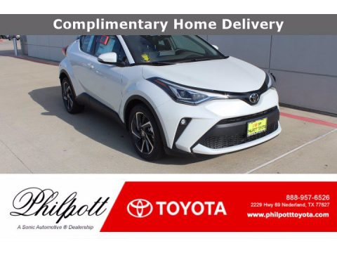 Blizzard Pearl Toyota C-HR Limited.  Click to enlarge.