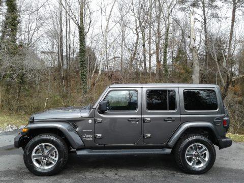 Granite Crystal Metallic Jeep Wrangler Unlimited Sahara 4x4.  Click to enlarge.