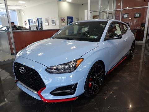 Performance Blue Hyundai Veloster N.  Click to enlarge.