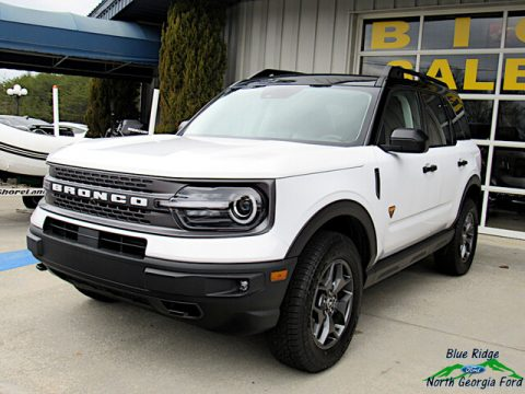 Oxford White Ford Bronco Sport Badlands 4x4.  Click to enlarge.