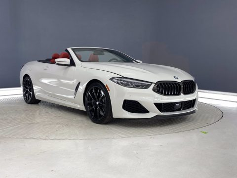 Alpine White BMW 8 Series 850i xDrive Convertible.  Click to enlarge.