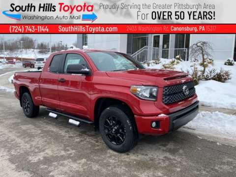 Barcelona Red Metallic Toyota Tundra SR5 Double Cab 4x4.  Click to enlarge.