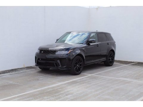Santorini Black Metallic Land Rover Range Rover Sport SVR Cabon Edition.  Click to enlarge.