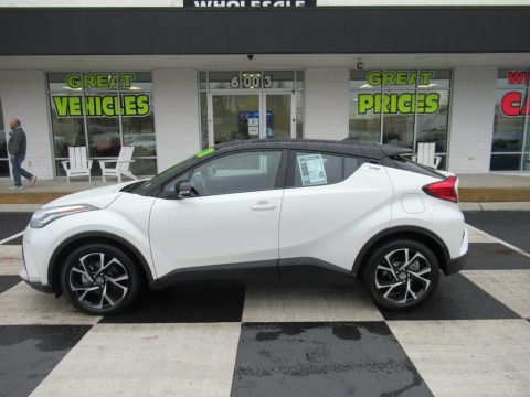 Blizzard Pearl Toyota C-HR XLE.  Click to enlarge.