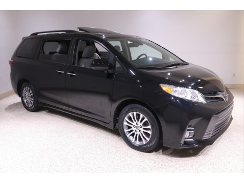 Midnight Black Metallic Toyota Sienna XLE.  Click to enlarge.