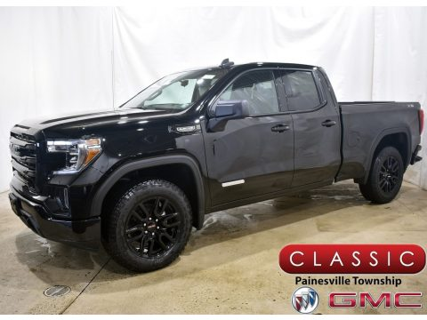 Onyx Black GMC Sierra 1500 Elevation Double Cab 4WD.  Click to enlarge.
