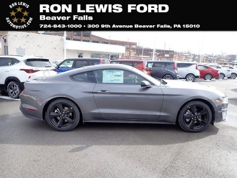 Carbonized Gray Metallic Ford Mustang EcoBoost Fastback.  Click to enlarge.