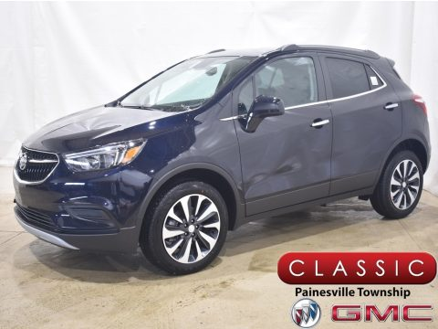 Dark Moon Blue Metallic Buick Encore Preferred AWD.  Click to enlarge.