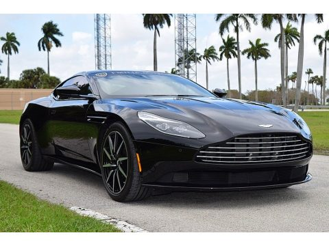 Jet Black Aston Martin DB11 Launch Edition Coupe.  Click to enlarge.