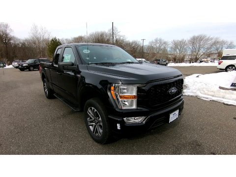 Agate Black Ford F150 STX SuperCab 4x4.  Click to enlarge.
