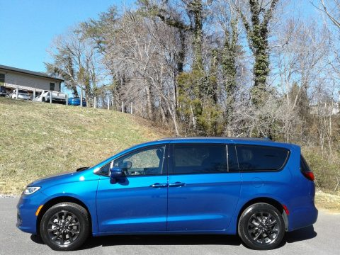 Ocean Blue Metallic Chrysler Pacifica Touring AWD.  Click to enlarge.