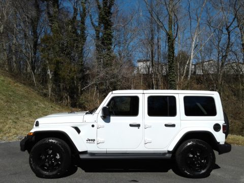 Bright White Jeep Wrangler Unlimited Sahara Altitude 4x4.  Click to enlarge.