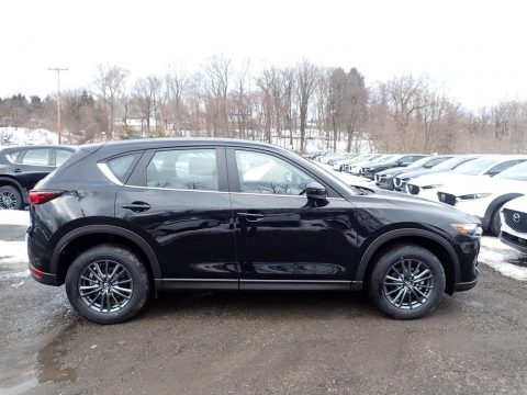 Jet Black Mica Mazda CX-5 Sport AWD.  Click to enlarge.