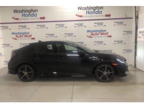 Crystal Black Pearl Honda Civic Sport Hatchback.  Click to enlarge.