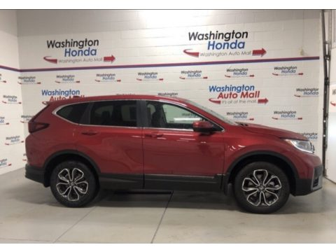 Radiant Red Metallic Honda CR-V EX AWD.  Click to enlarge.