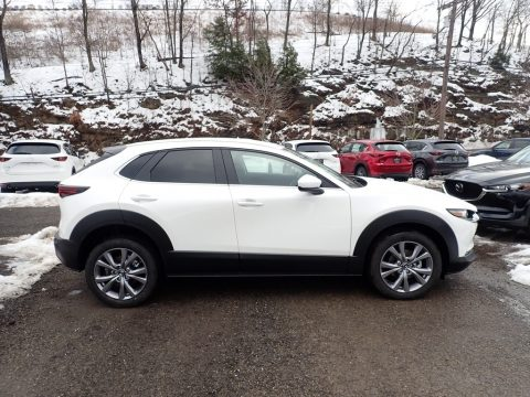 Snowflake White Pearl Mica Mazda CX-30 Select AWD.  Click to enlarge.