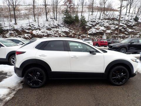 Snowflake White Pearl Mica Mazda CX-30 Premium AWD.  Click to enlarge.