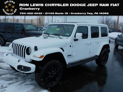 Bright White Jeep Wrangler Unlimited High Altitude 4x4.  Click to enlarge.