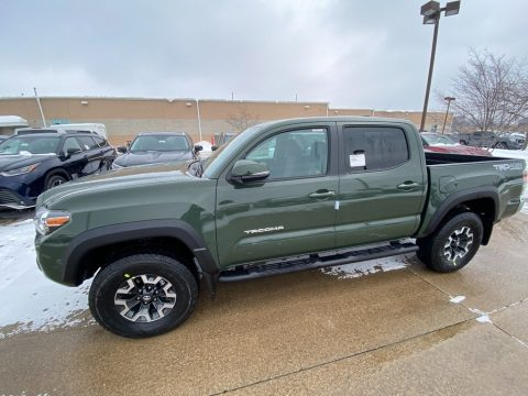Army Green Toyota Tacoma TRD Off Road Double Cab 4x4.  Click to enlarge.