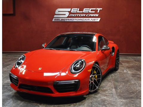 Carmine Red Porsche 911 Turbo S Coupe.  Click to enlarge.